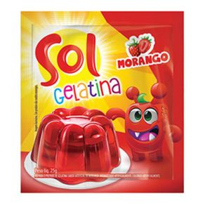 GELATINA-SOL-25G-MORANGO